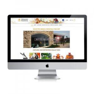 תמונה ראשית גלריית האמנות בקיסריה קרנף סטודיו עיצוב גרפי עיצוב ובניית אתרים עיצוב כרטיסי ביקור עיצוב פליירים